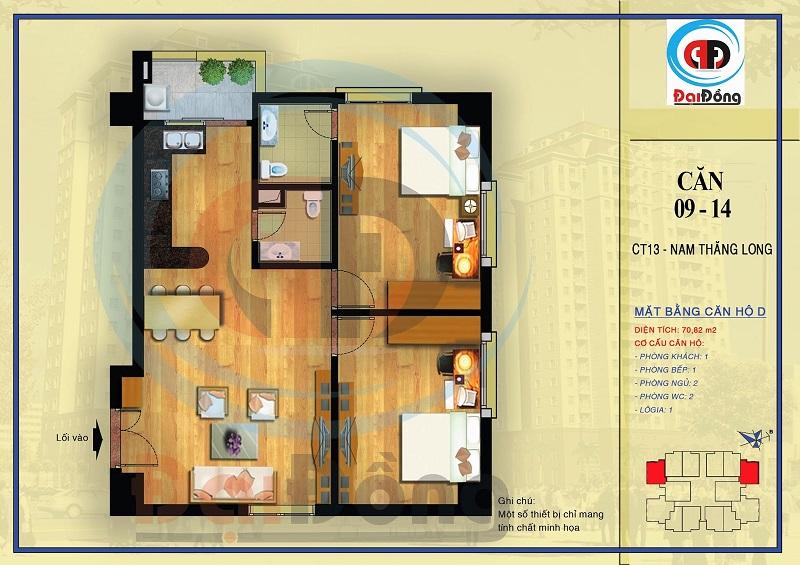 bán căn hộ ct13a