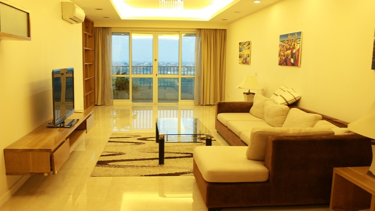 The beautiful apartment is located in P2 tower Ciputra